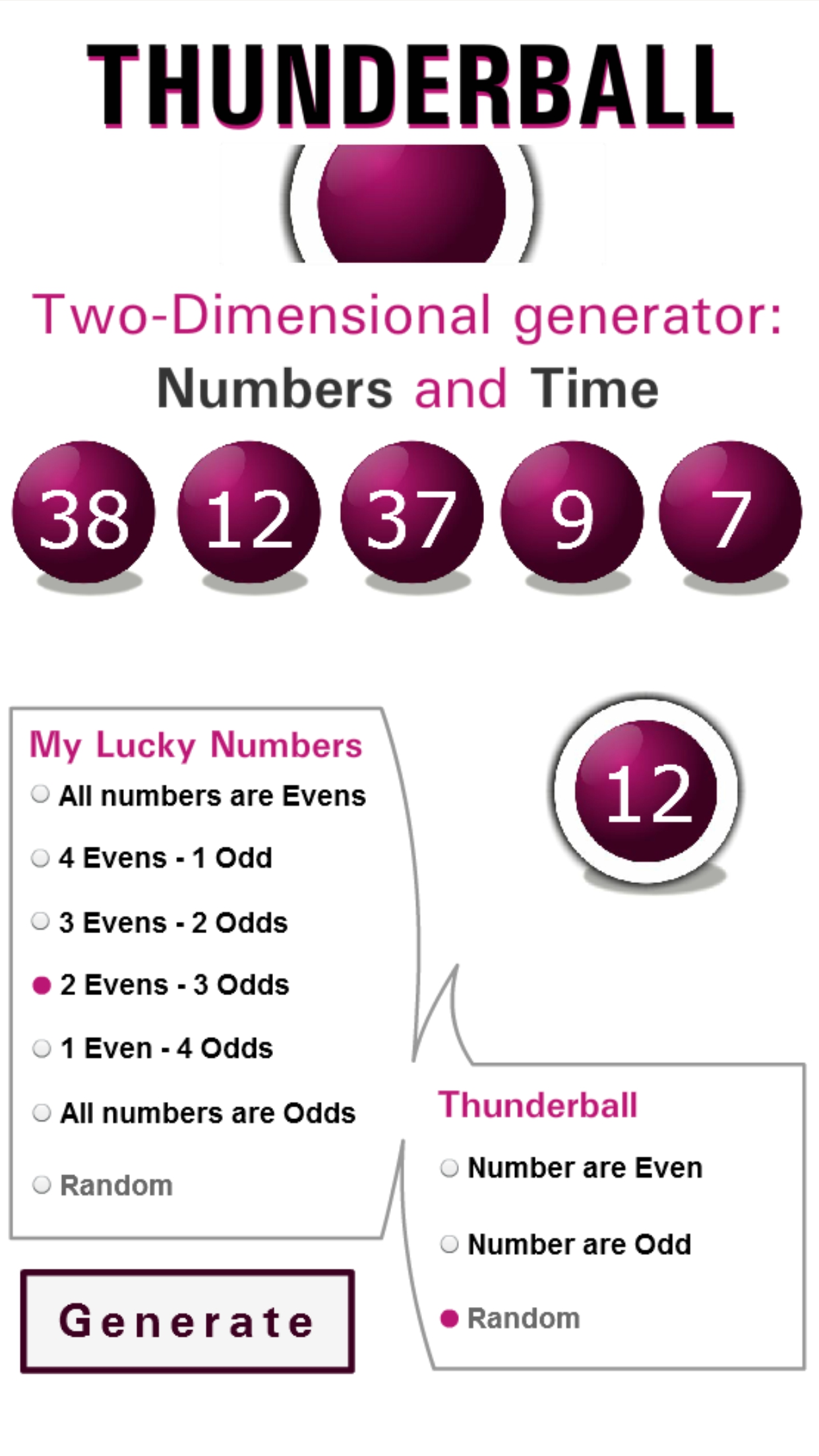 Thunderball |The National Lottery| Results, Tips, Winning Numbers