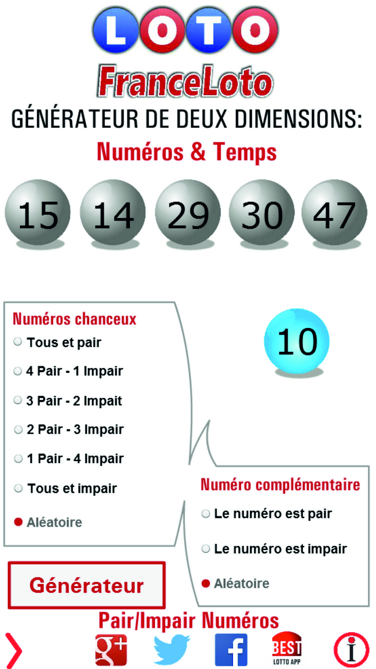 France Loto - Loto gagnant, Résultats, Rapports, Gains tirage