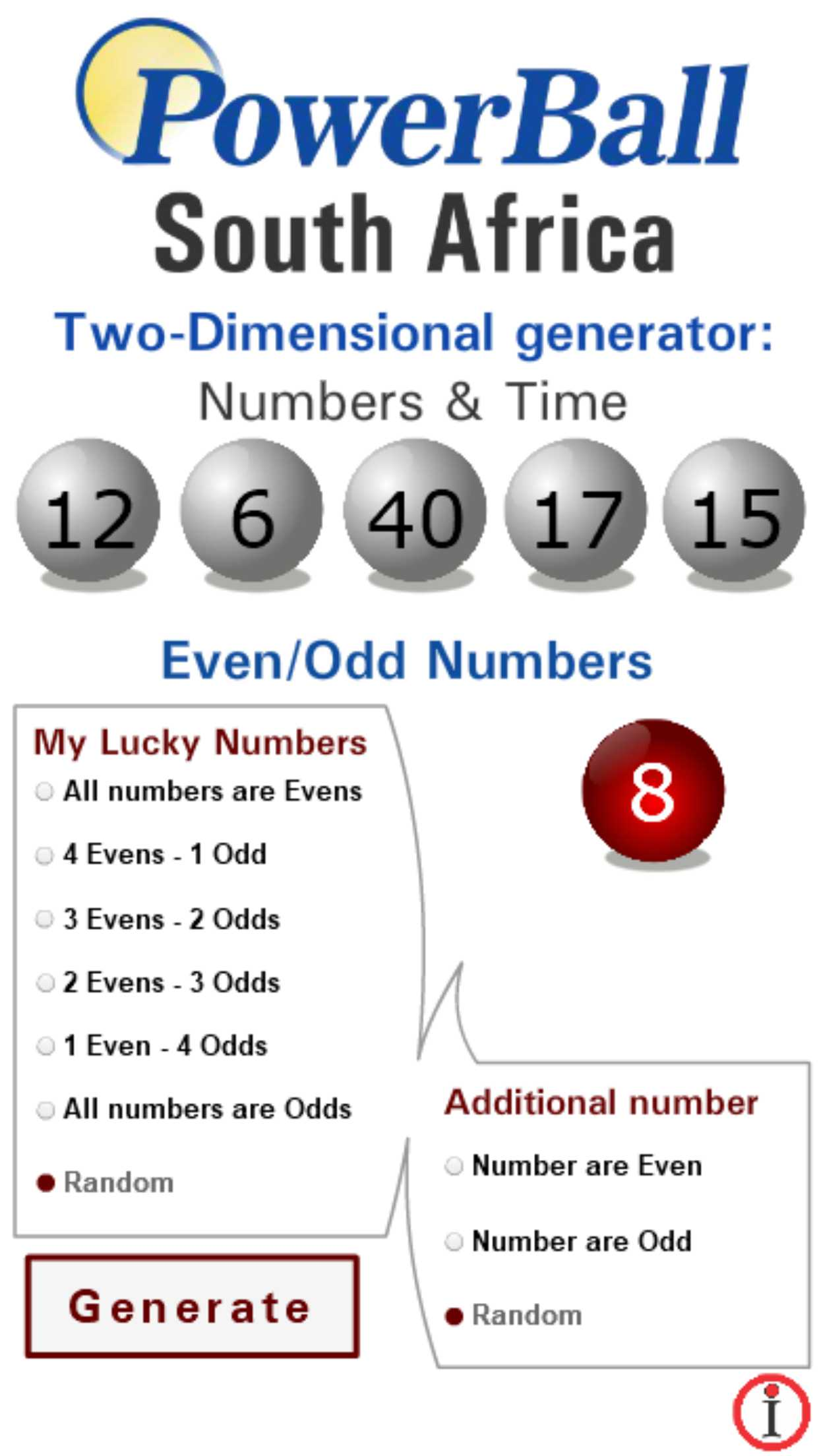 South Africa (SA) Powerball winning numbers - Lotto
